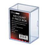 Ultra Pro Plastic Card Storage Box for 100 cards