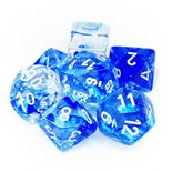 Chessex Dice Set 7x Polyhedral, Nebula Dark Blue with White Pips