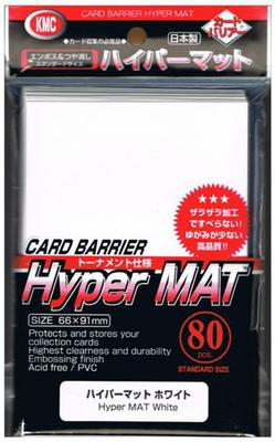 KMC Sleeves Hyper Matte White (80pcs)