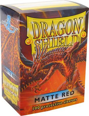 Dragon Shield Sleeves Matte Red (100 Sleeves)