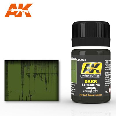 AK Interactive Enamel Color: Dark Streaking Grime 35ml