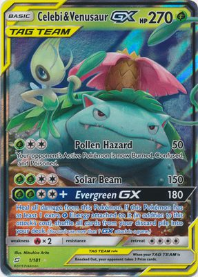 Celebi & Venusaur GX 1/181 - Sun & Moon Team Up