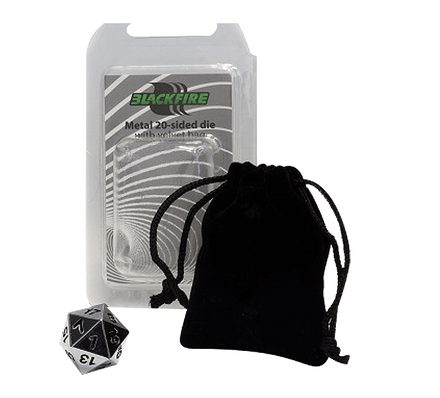 Blackfire Metal D20 with Velvet Bag