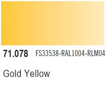 Vallejo Model Air: Gold Yellow 71.078