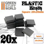 GSW Plastic Square Bases 20x20mm