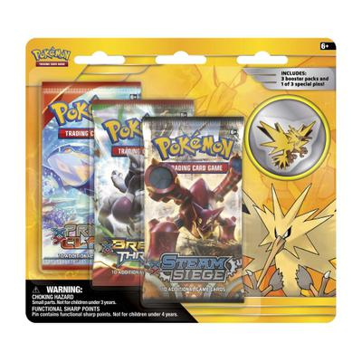 Pokemon Pin 3 Pack Blister: Zapdos