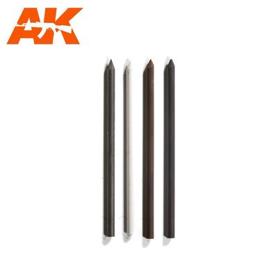 AK Interactive Lead Weathering Pencil Set (Hard)
