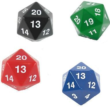 Spindown Lifecounter Dice D20 Large 30mm (Varying Colors)