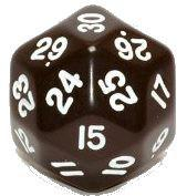 Dice d30 (large) (Varying colors)