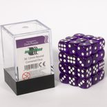 Blackfire Dice Cube, 36x 12mm D6, Transparent Dark Purple