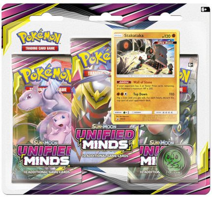 Pokemon SM11: Sun & Moon Unified Minds 3-pack Blister Stakalaka (PREORDER)