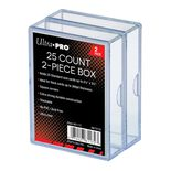 Ultra Pro Plastic Card Storage Box for 25 cards, Clear (2ct)