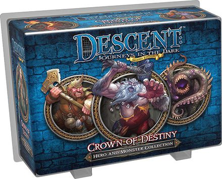 Descent (2nd Ed): Crown of Destiny Hero and Monster Collection
