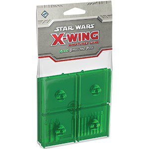 Star Wars X-Wing Miniatures Game: Green Bases and Pegs