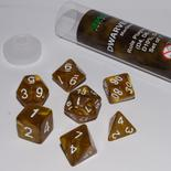 Blackfire Dice Set (7x 16mm Dice, Dwarven Gold)