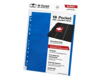 Ultimate Guard 18 Pocket Side-Loading Binder Page, Blue (10pcs)