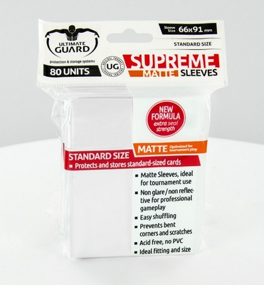 Ultimate Guard Supreme Sleeves Matte White (80pcs)