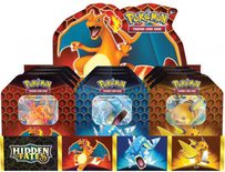 Pokemon SM11.5 Hidden Fates Tins - Set of 9 (3 x Charizard, 3 x Gyarados and 3 x Raichu)