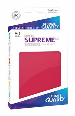 Ultimate Guard Supreme UX Sleeves Matte Red (80pcs)