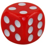 Dice D6 (16mm, varying colors)