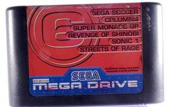 Mega Games 6 Vol. 3 (Sega Soccer, Columns, Super Monaco GP, Revenge of Shinobi, Sonic 1 & Streets of Rage) - Mega Drive