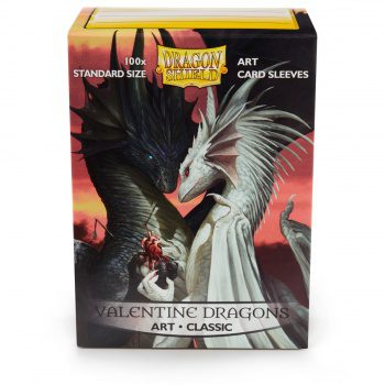 Dragon Shield Art Sleeves Standard Size Valentine Dragons (100ct)