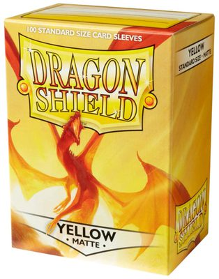 Dragon Shield Sleeves Matte Yellow (100 Sleeves)
