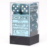 Chessex Dice Set 12xD6 16mm, Speckled Sea with White Pips