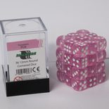 Blackfire Dice Cube, 36x 12mm D6, Transparent Pink
