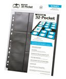Ultimate Guard 32 Pocket Binder Page Standard Size & Mini American, Black (10pcs)