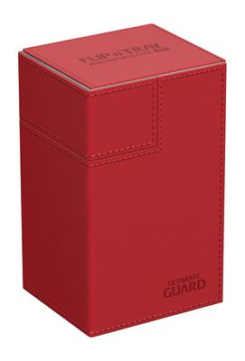 Ultimate Guard Deck Box, Flip'n'Tray Xenoskin 80+ Red