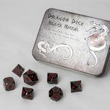 Blackfire Dice Set Solid Metal: Black Nickel