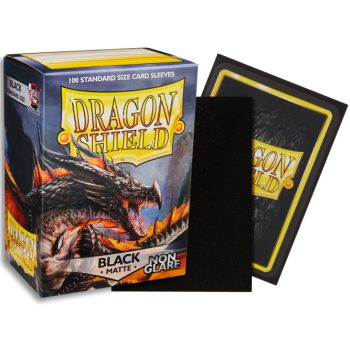 Dragon Shield Sleeves Standard Size Matte Black Non-Glare (100ct)