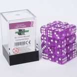 Blackfire Dice Cube, 36x 12mm D6, Transparent Light Purple