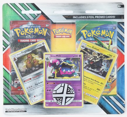 Pokemon Enhanced 2-Pack Blister Alolan Dugtrio, Muk & Golem