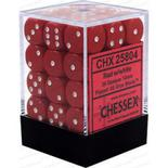 Chessex Dice Set 36xD6 12mm, Opaque Red with White Pips