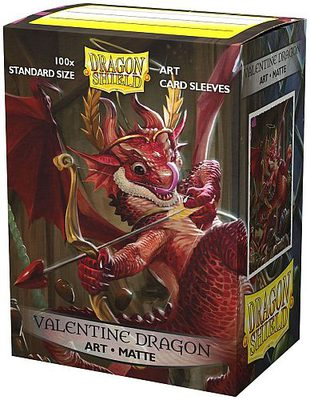 Dragon Shield Art Sleeves Standard Size Matte Valentine Dragon 2020 (100ct)