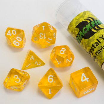 Blackfire Dice Set (7x 16mm Dice, Crystal Yellow)
