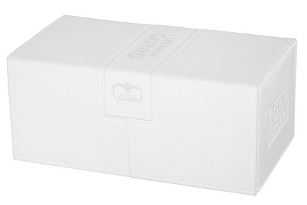 Ultimate Guard Deck Box,  Twin Flip'n'Tray Xenoskin 200+ White