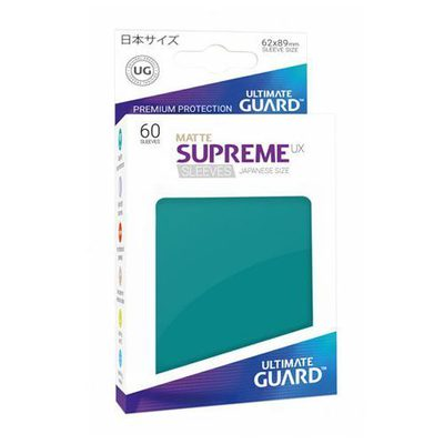 Ultimate Guard Japanese Size Supreme UX Sleeves Petrol Blue (60pcs)