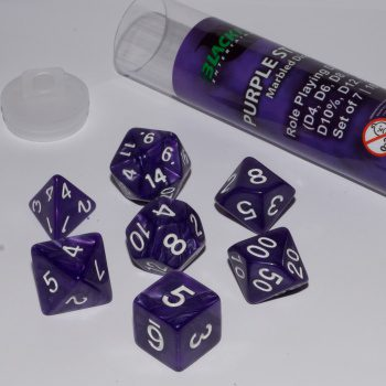 Blackfire Dice Set (7x 16mm Dice, Purple Strike)