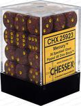 Chessex Dice Set 36x D6 12mm, Speckled Mercury with Yellow Pips