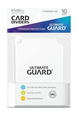 Ultimate Guard Card Dividers -  White (10pcs)