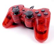 PS2 Controller (Clear Red)
