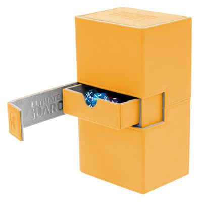 Ultimate Guard Deck Box, Twin Flip'n'Tray Xenoskin 160+ Amber