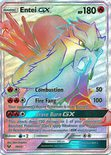 Entei GX Hyper Rare 74/73 - Sun & Moon Shining Legends