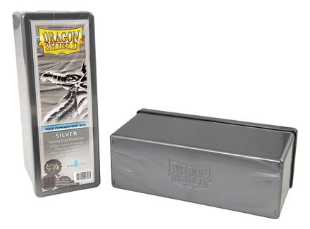 Dragon Shield Deck Box, 4 Compartment, Silver