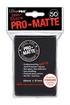 Ultra Pro Sleeves Standard Size Matte Black (50ct)