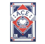 Playing Cards: Blue Ace Linen Finish Regular Index