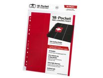 Ultimate Guard 18 Pocket Side-Loading Binder Page, Red (10pcs)